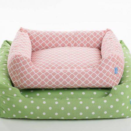 sofa luben spring verde rosa